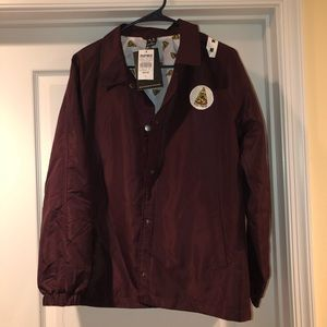 Jac Vanek Burgundy Pizza Coaches Jacket